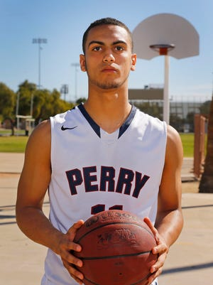All-Arizona boys basketball player Markus Howard of Perry High on March 7, 2015, in Tempe. Perry is transferring to Findlay Prep in Las Vegas.