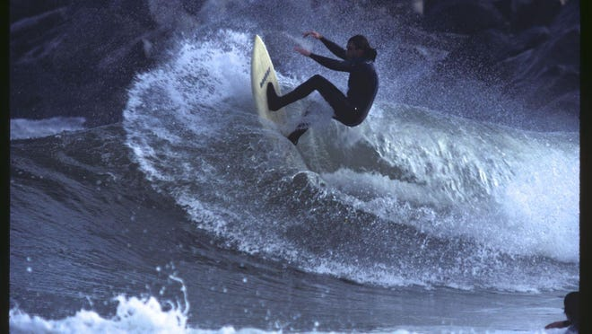 """Inductee Greg """"Grog"""" Mesanko of Grogs Surf Palace, shot by Ray Hallgreen, who is also a New Jersey Surfing Hall of Fame inductee."""
