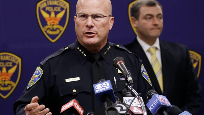 San Francisco Police Chief Greg Suhr said two men are in custody for the stabbing death of a Dodgers fan.