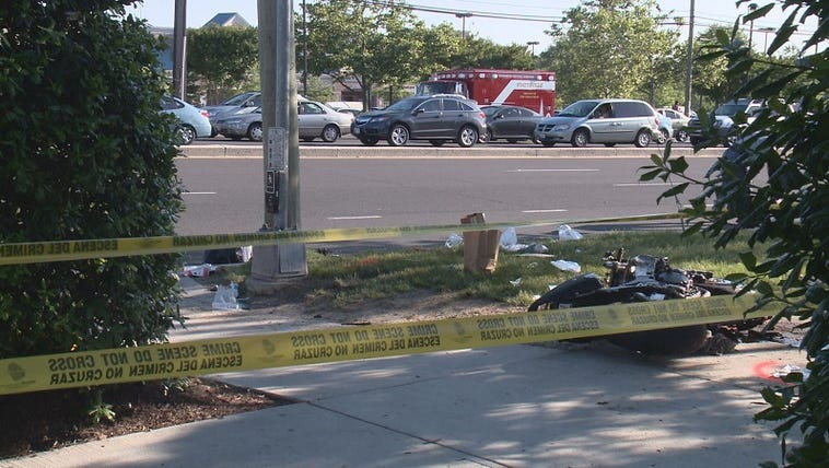 The motorcycle accident in Hyattsville