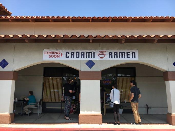 Cagami Ramen opened in Camarillo in August 2016.