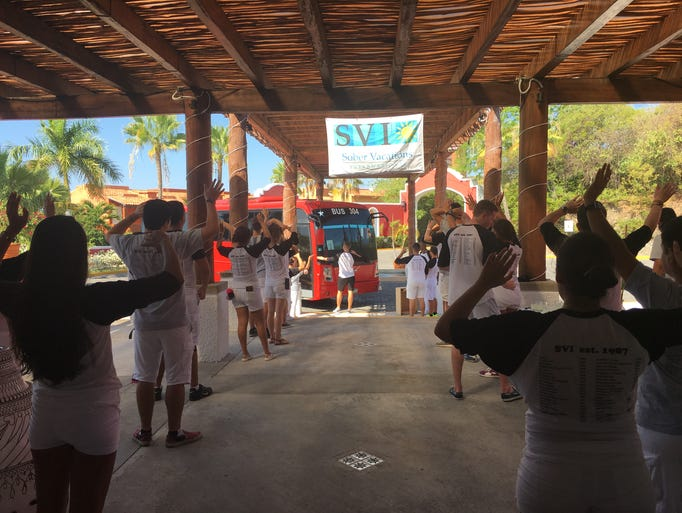Nearly 500 people arrive for a week at the Club Med