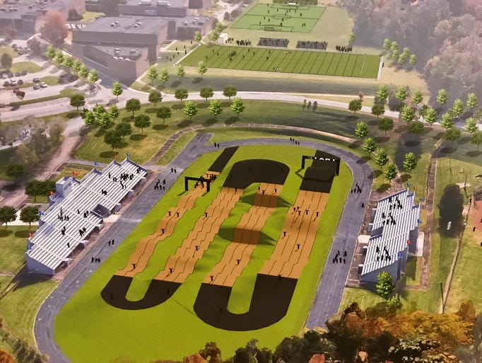 A rendering shows a proposed BMX park at the current