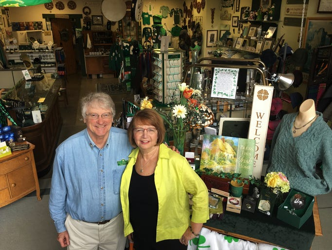 Dick and Sandy Murphy stand in the front of Mrs. Murphy's