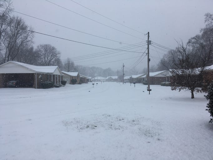 West Tennessee experienced ice and snow Friday, Jan.