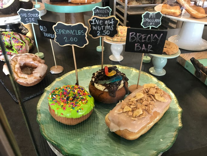 A  variety of doughnuts at Mitten Raised Bakery in