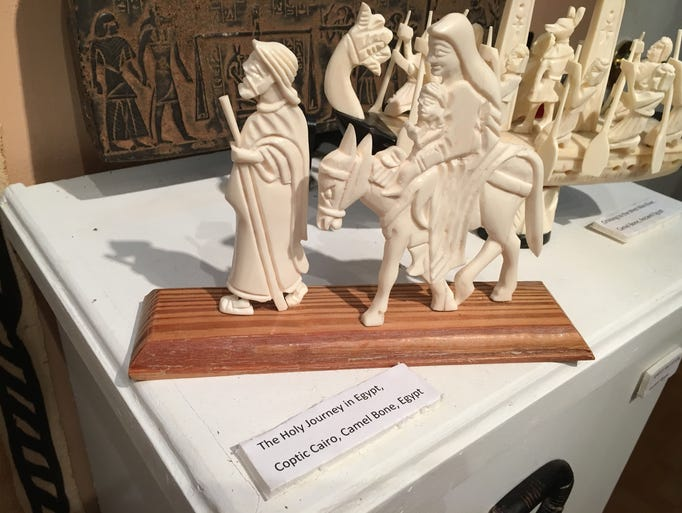 No, that's not ivory! This carving of the holy family