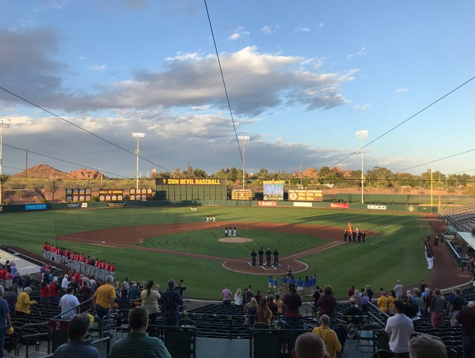 A view of Phoenix Municipal Stadium during the national