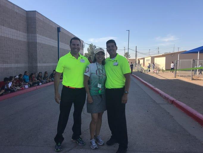 Alicia Chacon International School coaches Elton Valentin,