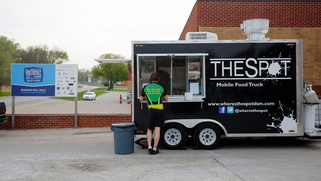 The Spot mobile food truck. The Des Moines City Council will vote on a pilot food truck program on March 9.