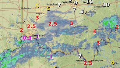 Areas of patchy fog reduced visibility in some parts of Greater Cincinnati Friday morning.