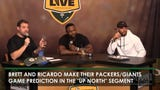 "Brett and Ricardo make their predictions for the Packers vs. Giants game in the ""Up North"" segment on Clubhouse Live."