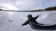 Speed across a winter wonderland in VR
