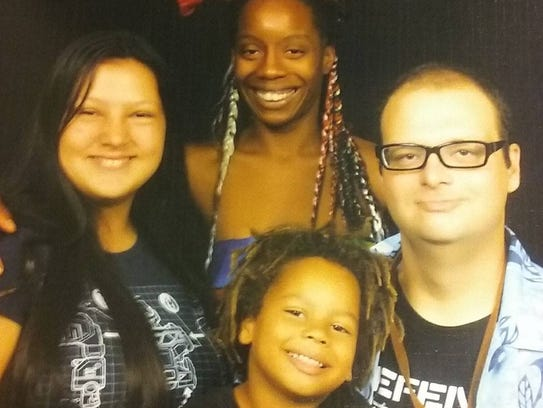 This is Springfield native Jeremy Wilson and his family.