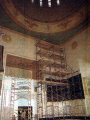 Repairs to the Capitol's murals and rotunda following the 1993 quake.