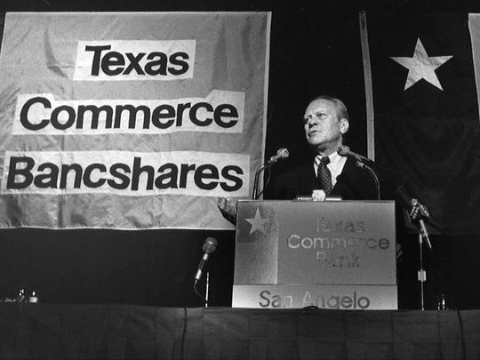 President Gerald Ford visited San Angelo in 1976 and