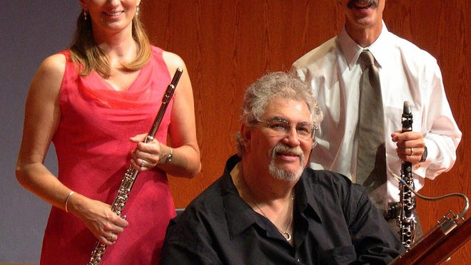From left, Palm Beach Chamber Music Festival founders flutist Karen Dixon, bassoonist Michael Ellert and clarinetist Michael Forte have moved this year's festival online.