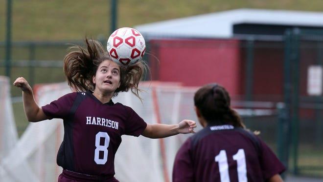 Harrison plays Tappan Zee in girls soccer at Tappan Zee High School in Orangeburg on Sept. 18, 2016.