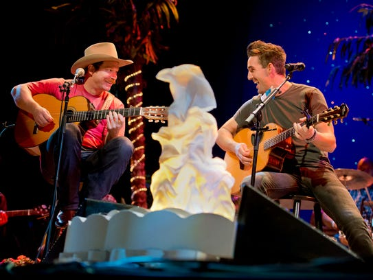 Scotty Emerick (left) and Jake Owen have often performed together at events in Vero Beach. Emerick will be on stage 5 p.m. Friday at the Beach Town Festival. Owen performs at 9:30 p.m.