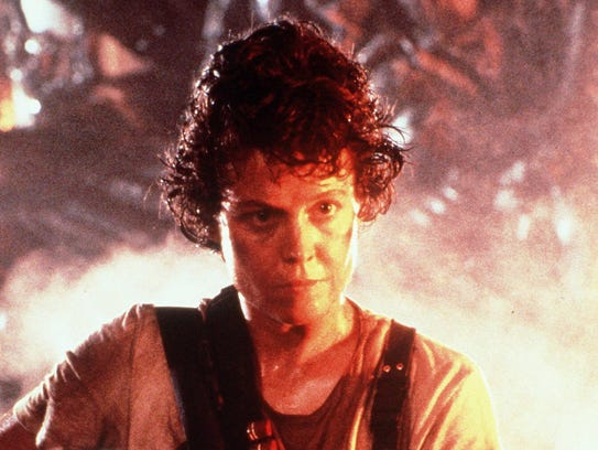 "Sigourney Weaver is upset and on a mission in ""Aliens."""