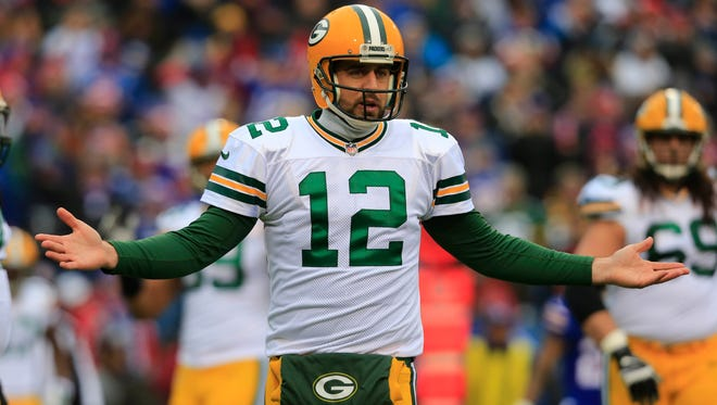 Packers QB Aaron Rodgers posted the worst passer rating of his career Sunday against the Bills.
