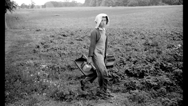 This photo of a migrant worker in Berrien County was shot by John Vachon in 1940 and posted on Twitter by Mason Christensen.