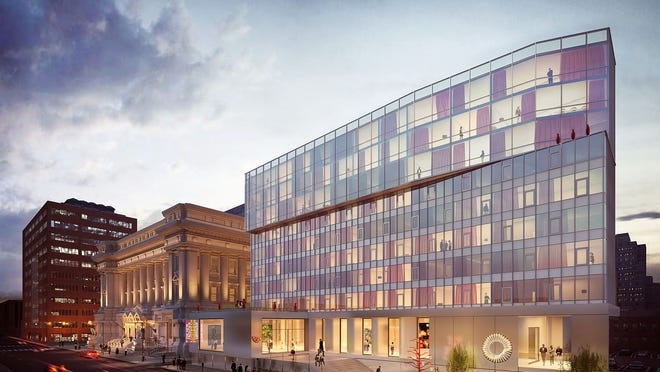 This is a 21c Museum Hotels rendering of the hotel they will be developing at the site of Indianapolis' old City Hall, near the corner of Alabama and Ohio streets. If the project is approved, company officials say it could be finished by late 2017 or early 2018.