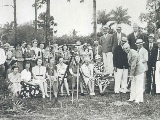 A groundbreaking ceremony was held in the 1930s for a new Lee Memorial Hospital on Cleveland Avenue.