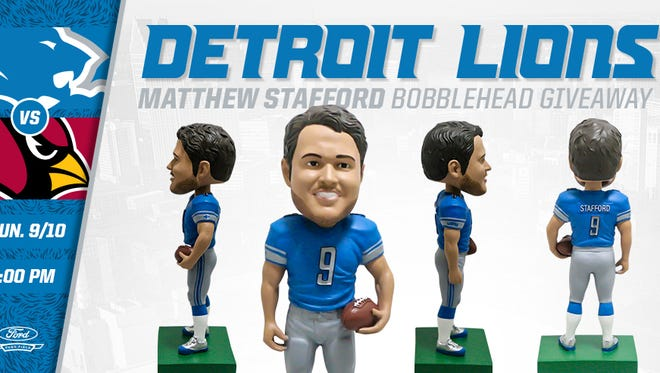 The Lions are giving away Matthew Stafford bobble head dolls on Sunday. Does it look like him.