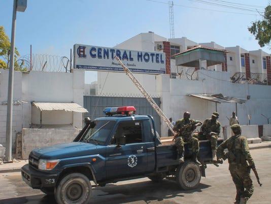 EPA SOMALIA CONFLICT HOTEL EXPLOSION WAR ACTS OF TERROR SOM