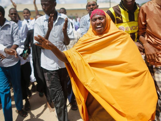 Muslim residents of Garissa chant 'al-Shabab chini'