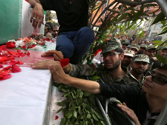 EPA IRAN SYRIA FUNERAL CEREMONY WAR CONFLICTS (GENERAL) IRA