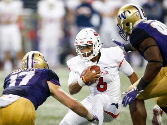 Fresno State quarterback Marcus McMaryion is one of