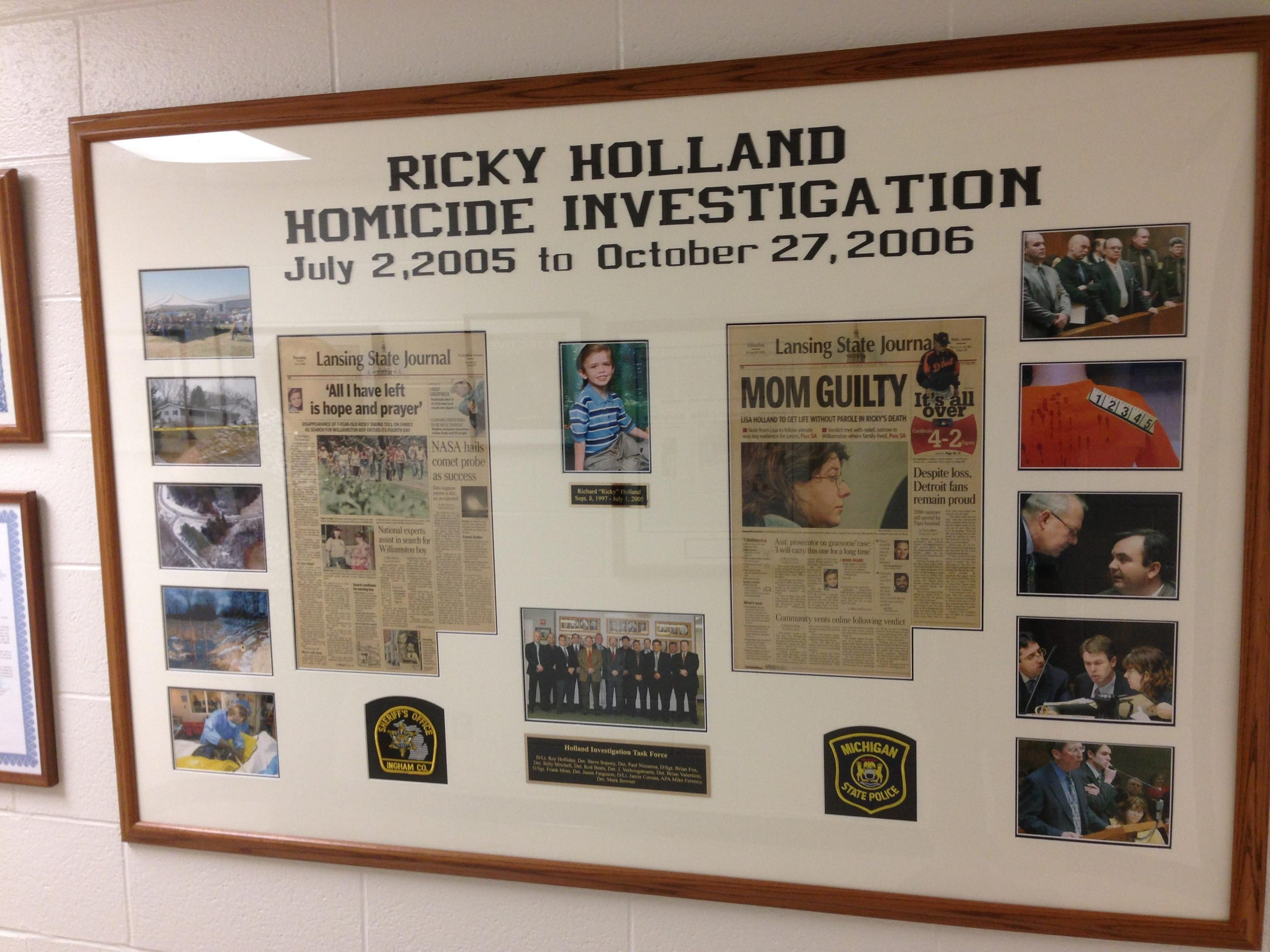 This display at the Ingham County Sheriff's Office