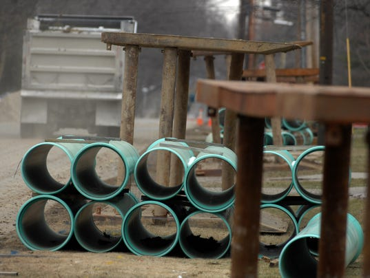 Storm sewer pipe line in Richmond