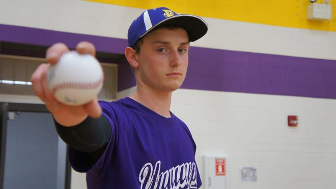 Pittsville senior Jacob Schulz is the Panthers' most consistent pitcher this season, but he is able to play anywhere on the field.