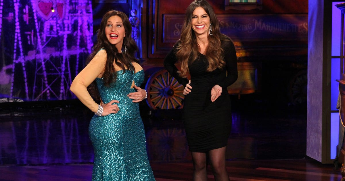 Ellen degeneres dresses as sofia vergara for halloween