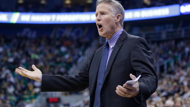 Philadelphia 76ers head coach Brett Brown has come under fire by the fathers of two of his players.