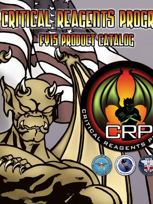 The military's Critical Reagents Program provides a catalog of  biological specimens to military and other authorized researchers working to develop biodefense products.