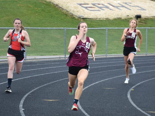 Stuarts Draft's Jordan Ramsey competes in the girls