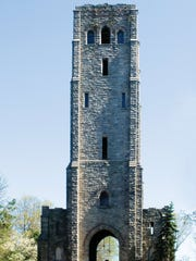 The Alpine Stone Clock Tower, colloquially known as