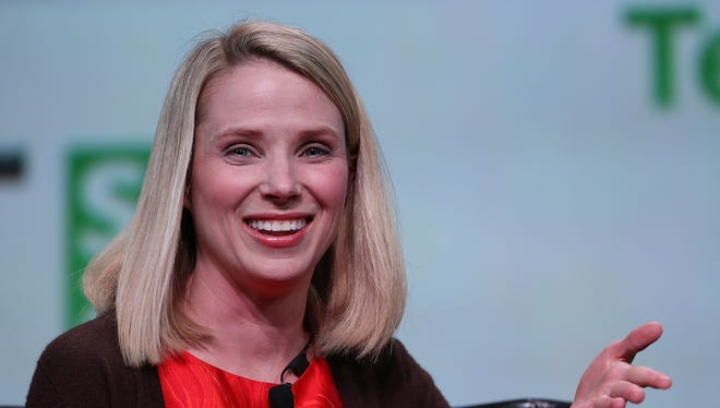 Yahoo CEO Marissa Mayer at the TechCrunch Disrupt conference in September in San Francisco.