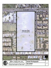 A project map for The Sands that appeared in Palm Desert