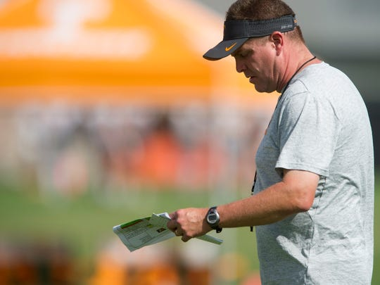 Tennessee first-year defensive coordinator Bob Shoop.