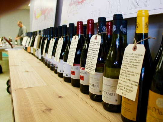 Peter Rizzo has taken the time to create handwritten hang tags for each of the wines he's sourced at his new Natural Wines store in Naples.