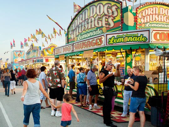 Visitors enjoy a variety of food and beverage options at the Waukesha County Fair. This year's fair runs through July 22.