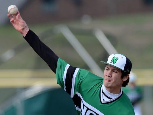 Novi senior Alec Bageris will be back on the mound