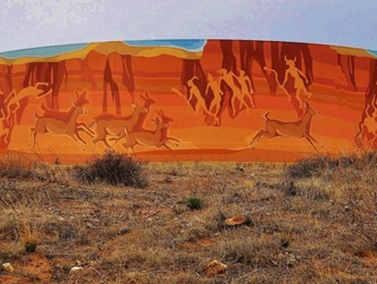 "Tony Pennock's ""Indian Canyon,"" at Sedona Hills Parkway"