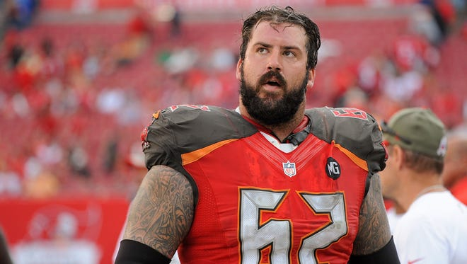 Tampa Bay Buccaneers center Evan Dietrich-Smith, who played in 61 games for the Green Bay Packers in 2009 and from 2011 to 2013.