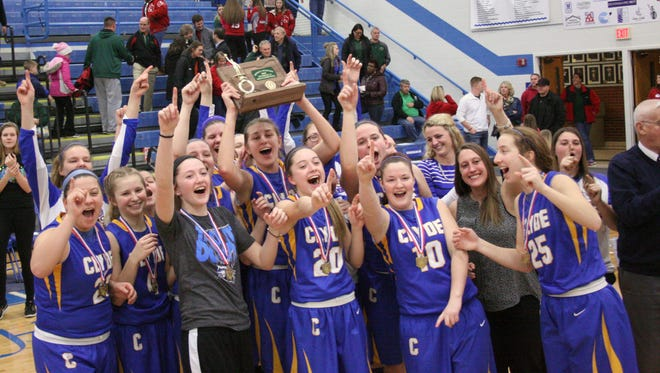 Clyde celebrates its district crown Saturday.